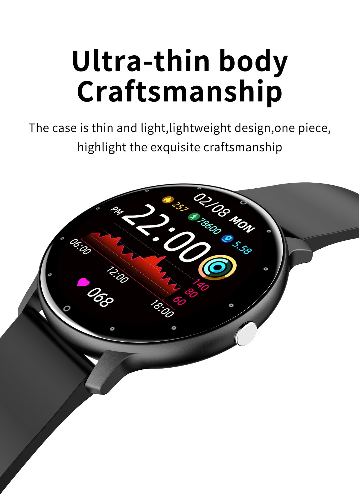 Hb7533fa97b844f13a565122d0e1478efV - LIGE 2021 New Men Smart Watch Real-time Activity Tracker Heart Rate Monitor Sports Women Smart Watch Men Clock For Android IOS