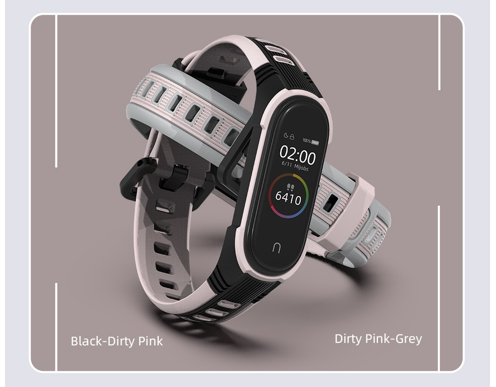 Hb761dfb3018a4485be592791034a53b0W - For Xiaomi Mi Band 6 5 Strap Bracelet for Mi Band 4 Strap Silicone Correa Wrist Watch Wristband for Mi Band 3 NFC Global Version