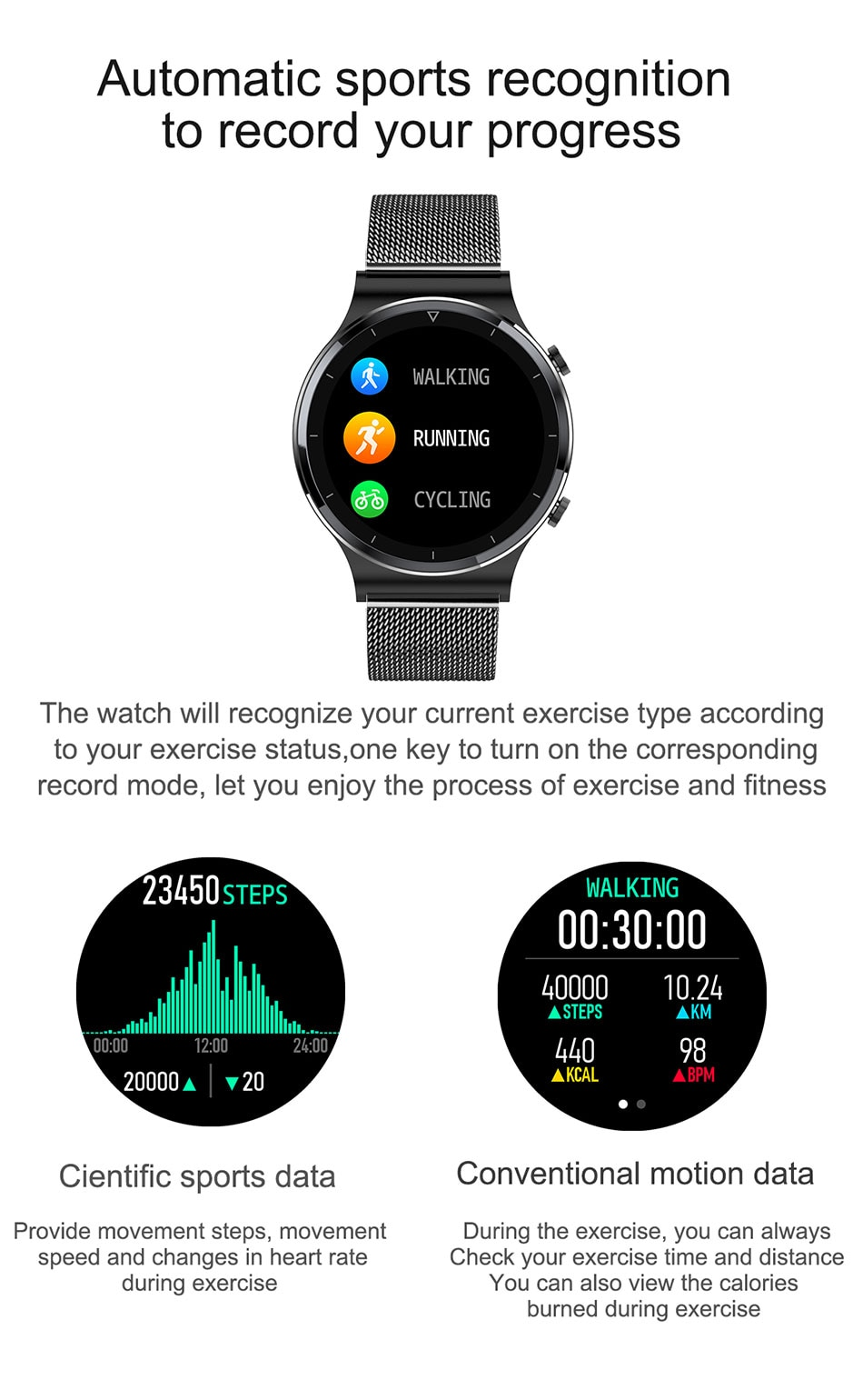 Hb812df9f73f64078998c6790d2e4a6bf2 - LIGE New Smart watch Men Heart rate Blood pressure Full touch screen sports Fitness watch Bluetooth for Android iOS smart watch