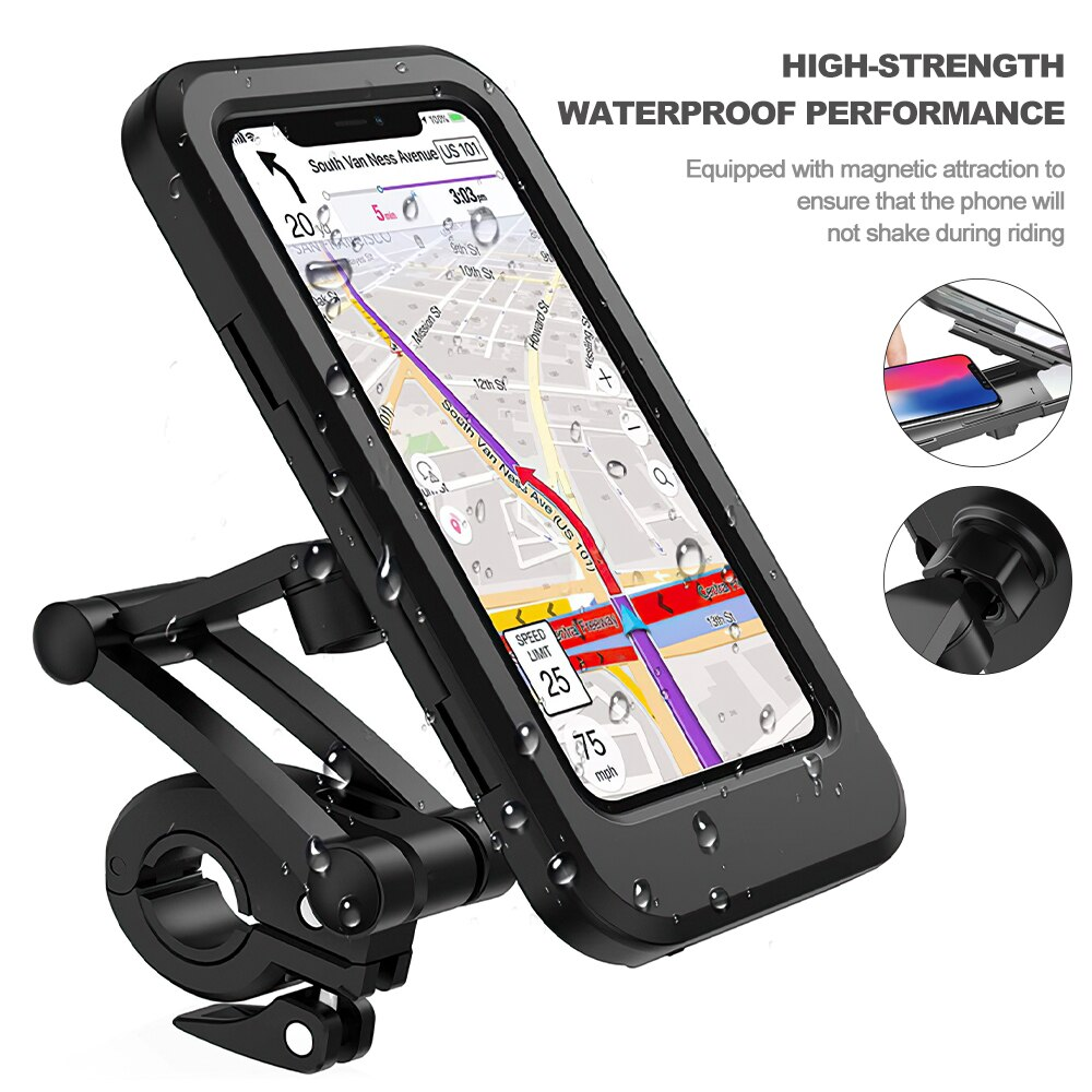 Hb81f3d4840fa4b90a4dac7a0dabe074dR - TRAVOR Phone Holder Adjustable Stand Car Phone Holder Clip Waterproof Bracket Bicycle Handlebar Mobile Support Mount Phone Stand
