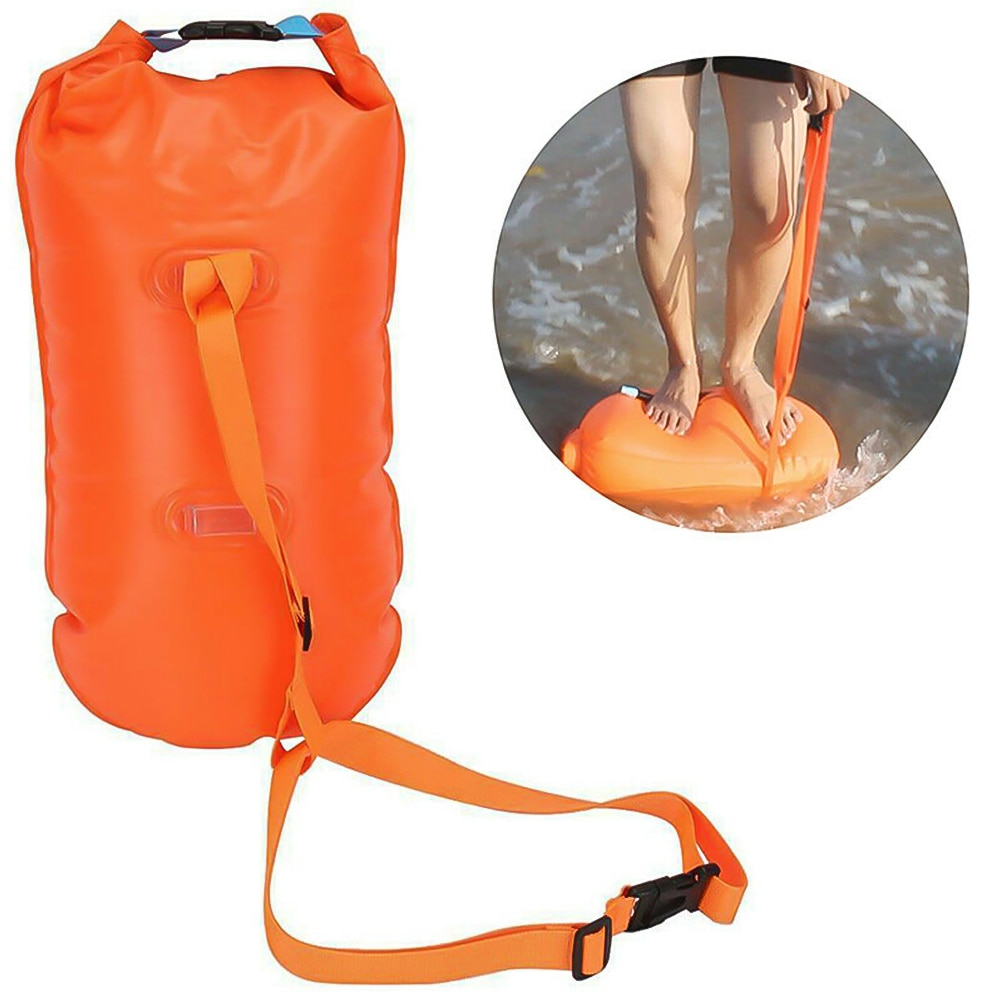 Hb847166dd5ac489f93c0577f4cee96d6C - 1pc Float Swimming Bag Floating Inflated Buoy Air Dry Bag Safety Storage Bag with Waist Belt for Rescue Swimming Water Sport