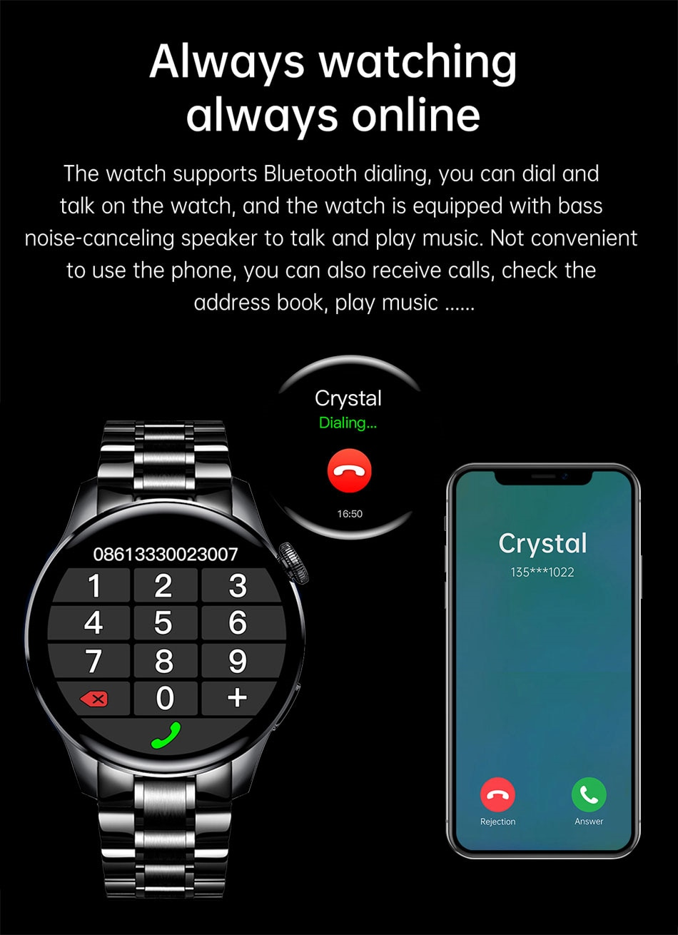 Hb9316ae3d62b4db98cda67886f0e506cF - LIGE New Bluetooth Call Smart watch Men Full touch Screen Sports fitness watch Bluetooth is Suitable For Android ios Smart watch