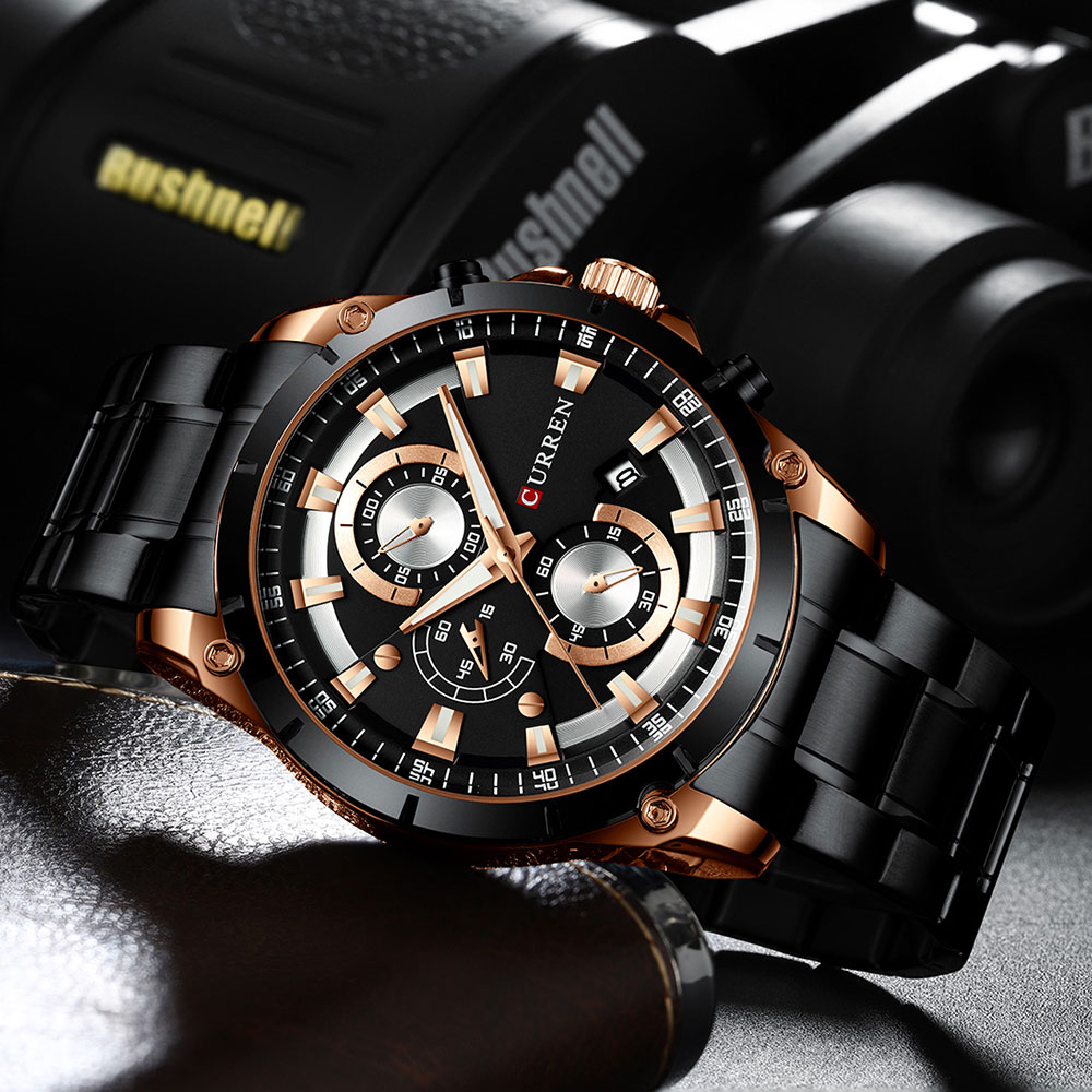 Hbbc6f0a9f22a48d4954726ae2bdadc13d - CURREN Top Brand Luxury Men Watches Sporty Stainless Steel Band Chronograph Quartz Wristwatch with Auto Date Relogio Masculino