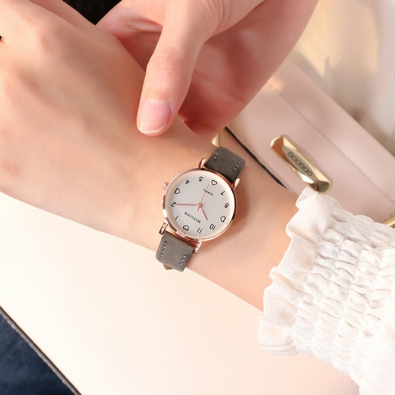 Hbd0c420030e4462db0b86ea997215d59w - Simple Vintage Women Small Dial Watch Sweet Leather Strap Wrist Watches Gift