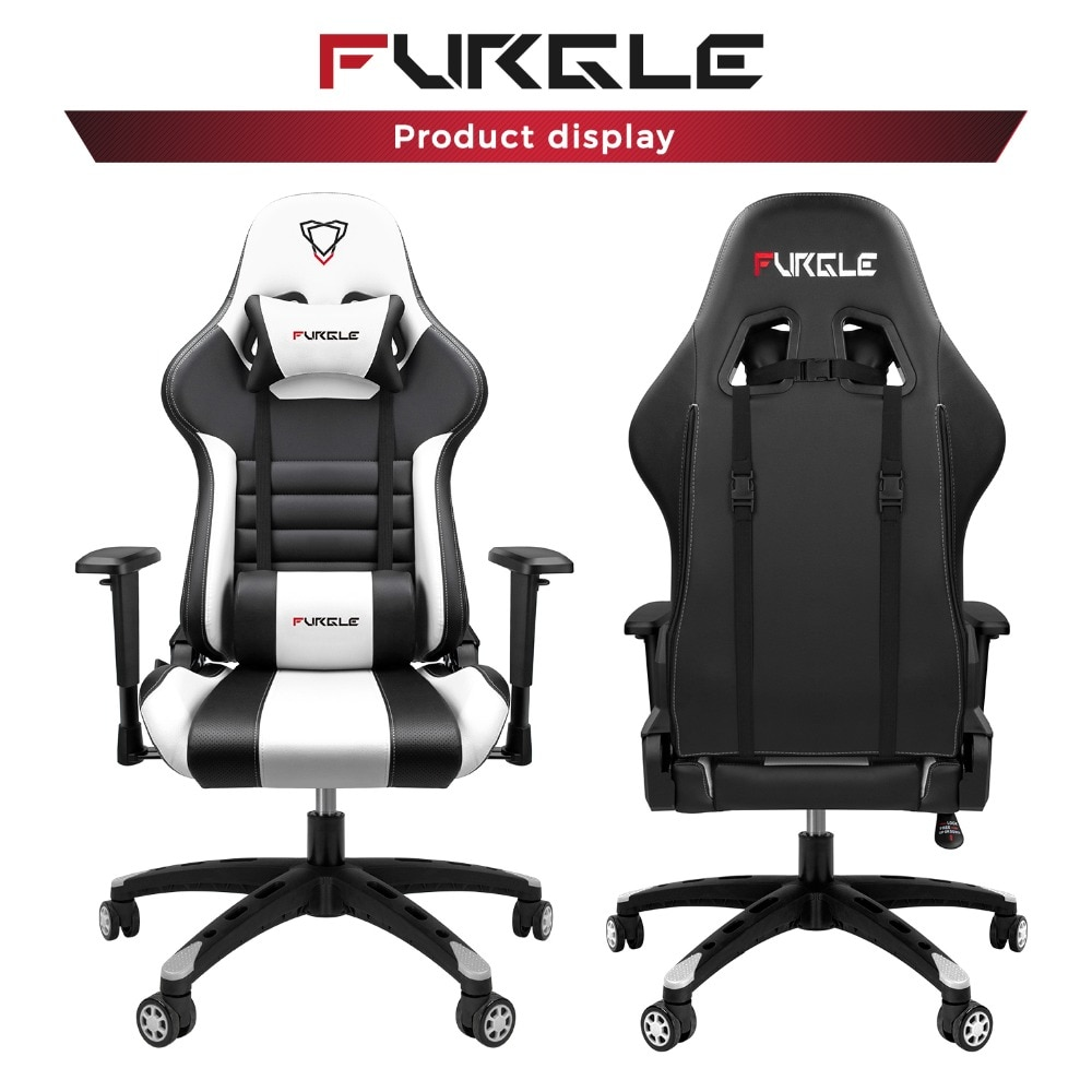 Hbe8543fa926d48359a41c603ddf6f504X - Furgle Gaming Office Chairs 180 Degree Reclining Computer Chair Comfortable Executive Computer Seating Racer Recliner PU Leather