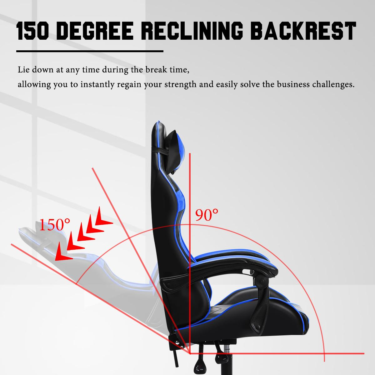 Hbf5fb6008dc2488a8b4354913bbdd7baC - Office Gaming Chair with Footrest Ergonomic Office Chairs Adjustable Swivel Leather High Back Computer Desk Chair with Headrest