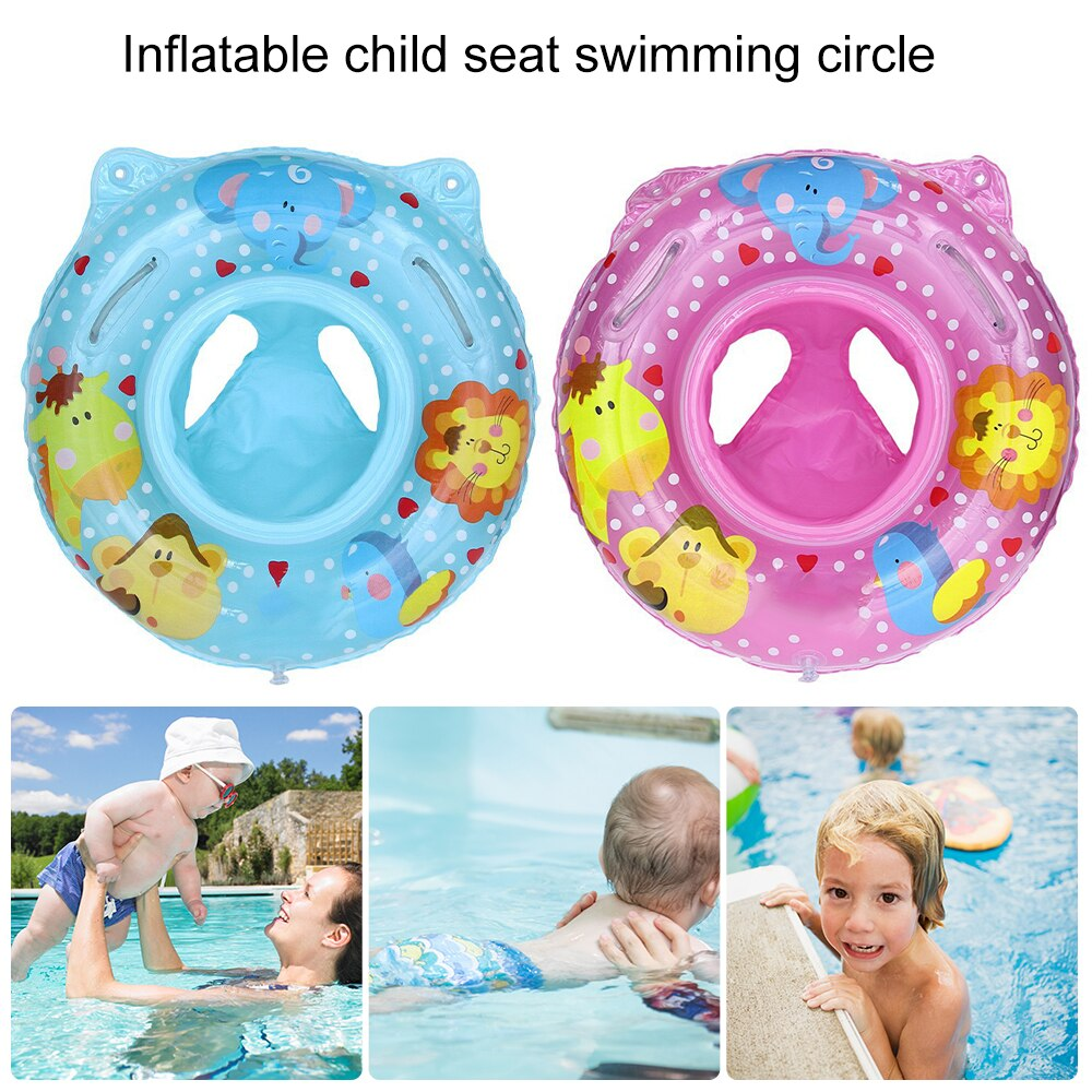 Hc156ebe3462047a898ade3865a5d3b25x - Lnflatable Child Seat Swimming Ring Dual-Handle Safety Baby Seat Floating Water Toy Children Swimming Accessories