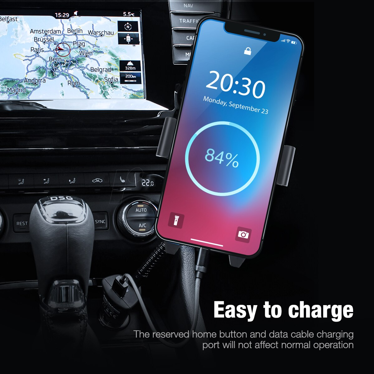 Hc2756c1065d84c13adfcb3ef026c21050 - 360 Degree Rotatable Car Phone Holder For 2.4 to 3.4inch Phone Mount Stand in Car Bracket For Poco x3 pro iPhone Xiaomi Samsung