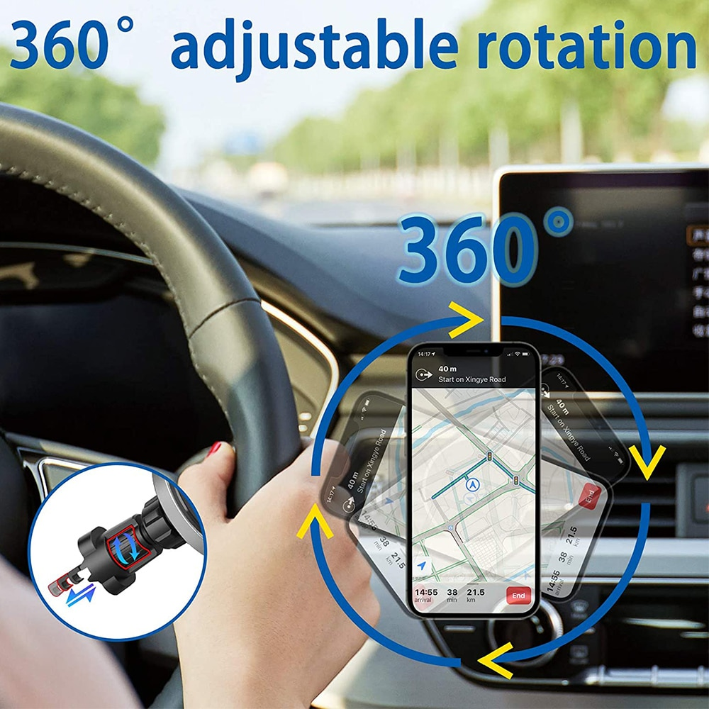 Hc29500baaa784a57995f2df96d92dfe1g - Fivetech 15W Fast Car Wireless Charger For iPhone 12 Pro Max/12 Mini Strong Magnetic Car Charging Stand Car Phone Holder