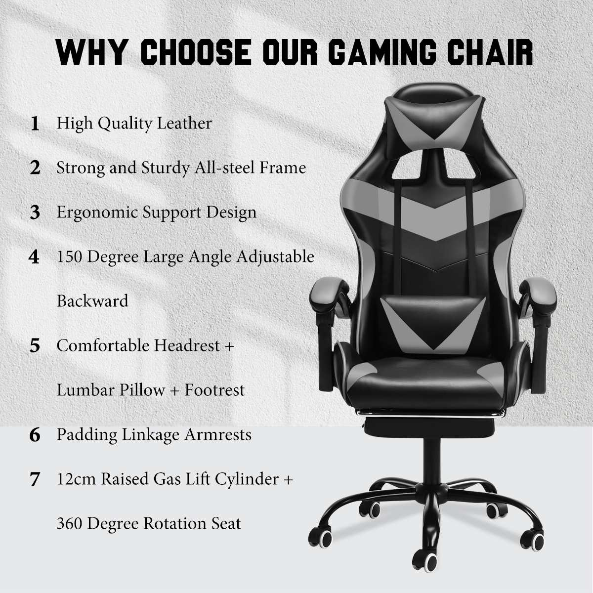 Hc34c783952734b7eb82542a7bdcc72b5y - Office Chair Gaming Computer Chair Racing Reclining High Back Computer Game Office Chair Ergonomic Desk Chairs Chaise Gaming