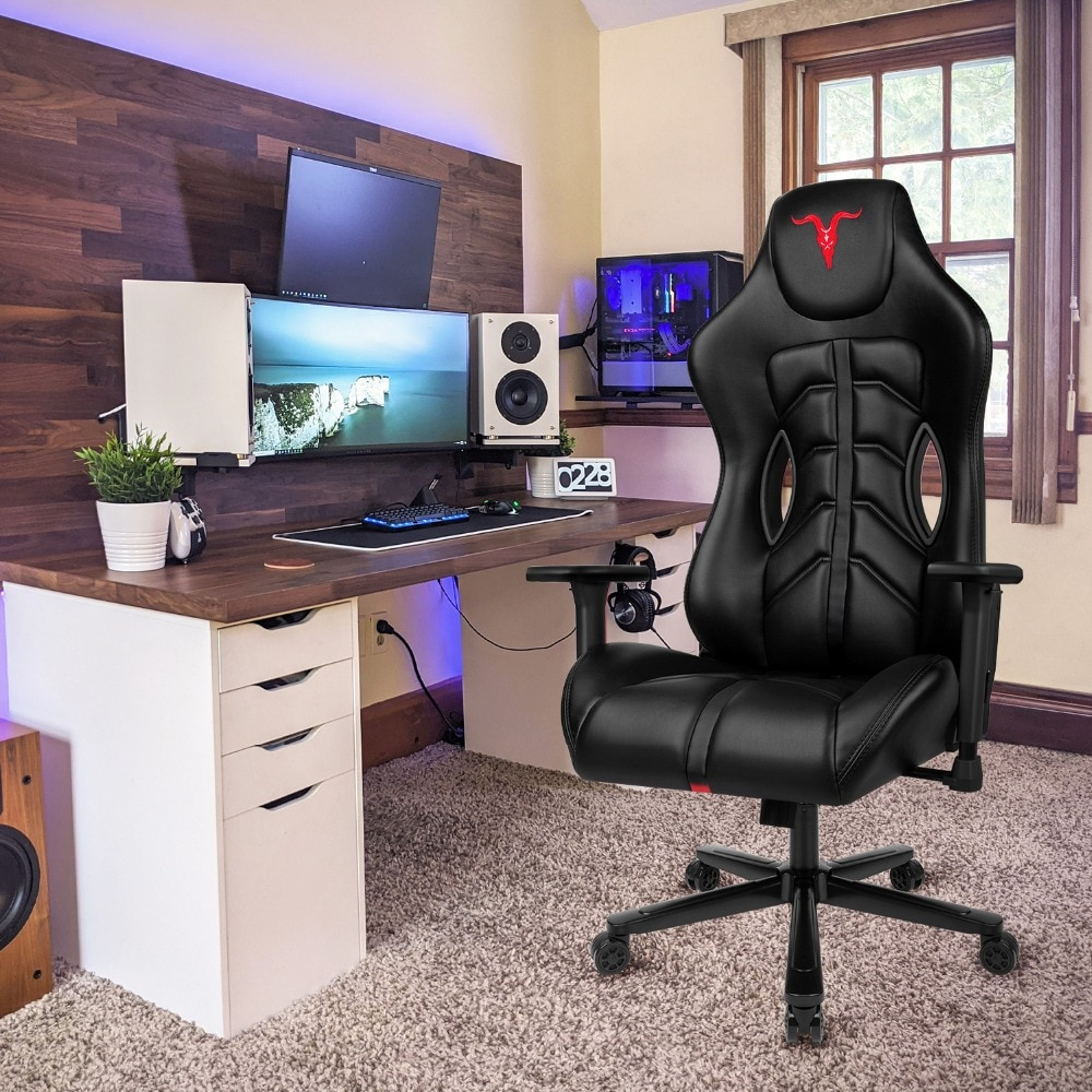 Hc3e074437a2340e593a09e511f391092f - Furgle ACE Series Office Chair 4D Armrest Gaming Chair Larger Seat Wider Back Side Computer Chair Swivel Leather Armchair Home