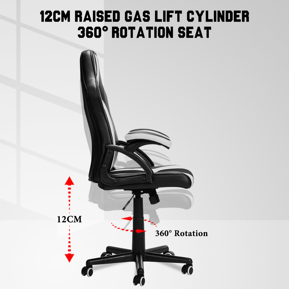Hc4b82f182b2f4f539d35f9f79bd12411X - Gaming Office Chairs Executive Computer Chair Desk Chair Comfortable Seating Adjustable Swivel Racing Armchair Office Furniture