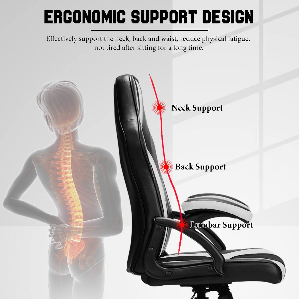 Hc527cf5d125348f992f6068b66ee2806h - Gaming Office Chairs Executive Computer Chair Desk Chair Comfortable Seating Adjustable Swivel Racing Armchair Office Furniture