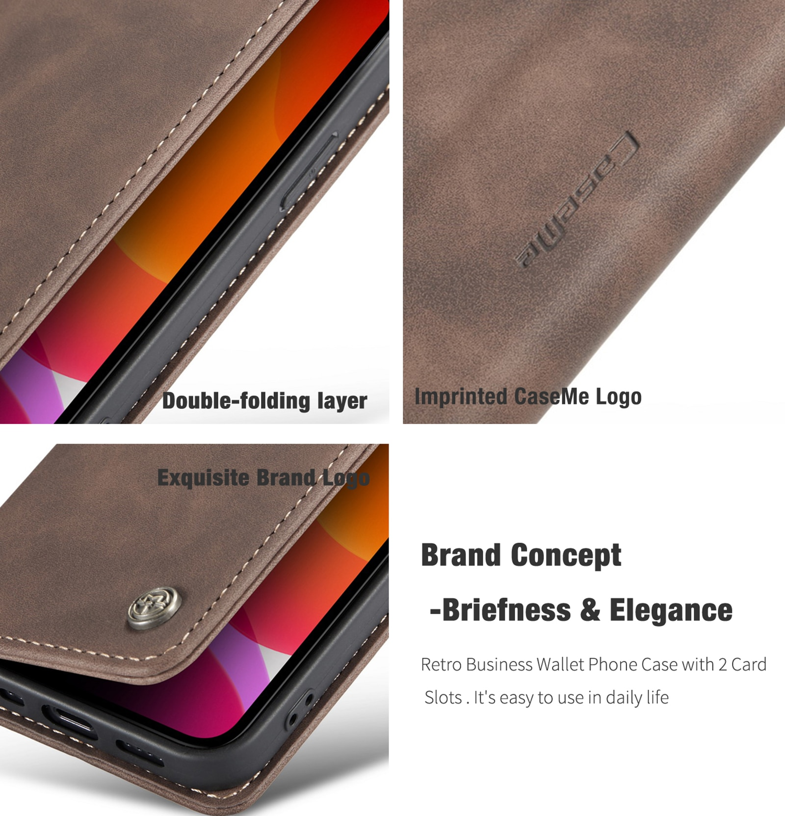 Hc721b3e8ea4c40b3aeb485a9a5efba87g - Magnetic Leather Flip Case For iPhone 12 / Pro / Pro Max PU Leather Fitted Bumper Soft Retro Flip Case Book Wallet Cover