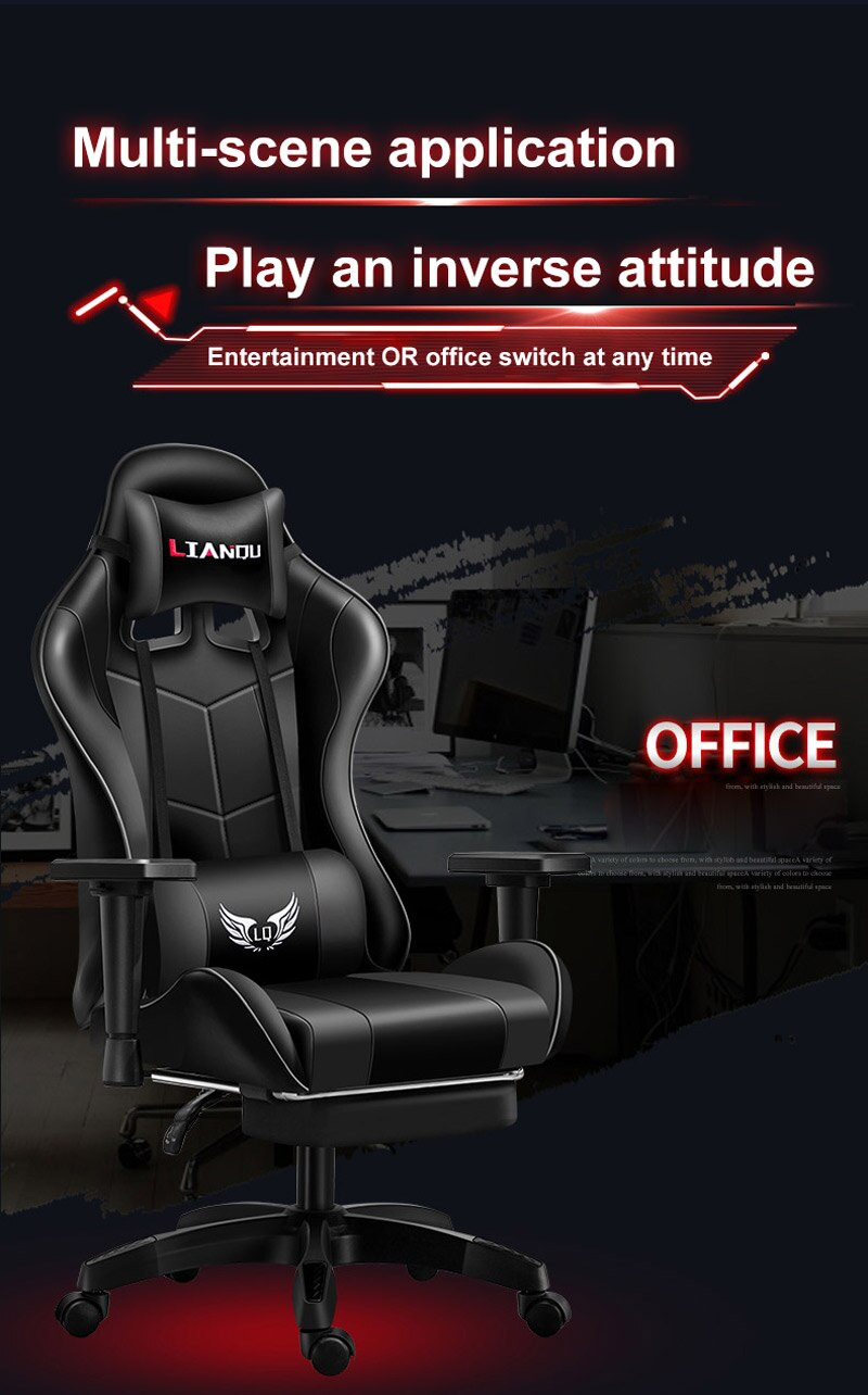 Hc78d92efd7284dd7932e17ccf047ac39J - Computer Gaming Chair Safe And Durable Office Chair Ergonomic Leather Boss Chair Wcg Game Rotating Lift Chair High Back Chair
