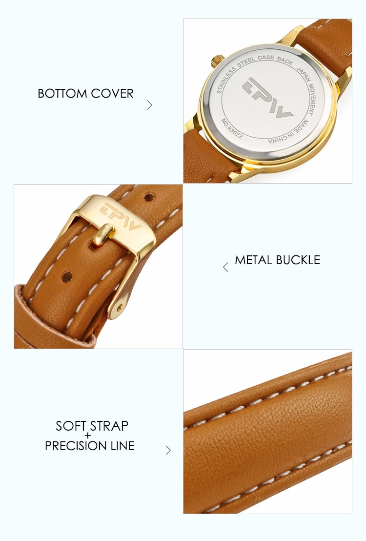 Hc7df9e6be92b44508021a0ddf0149cd51 - Japanese Movement Women Quartz Watch Easy to Read Arabic Numerals Simple Dial PU Leather Strap Lady Candy Color