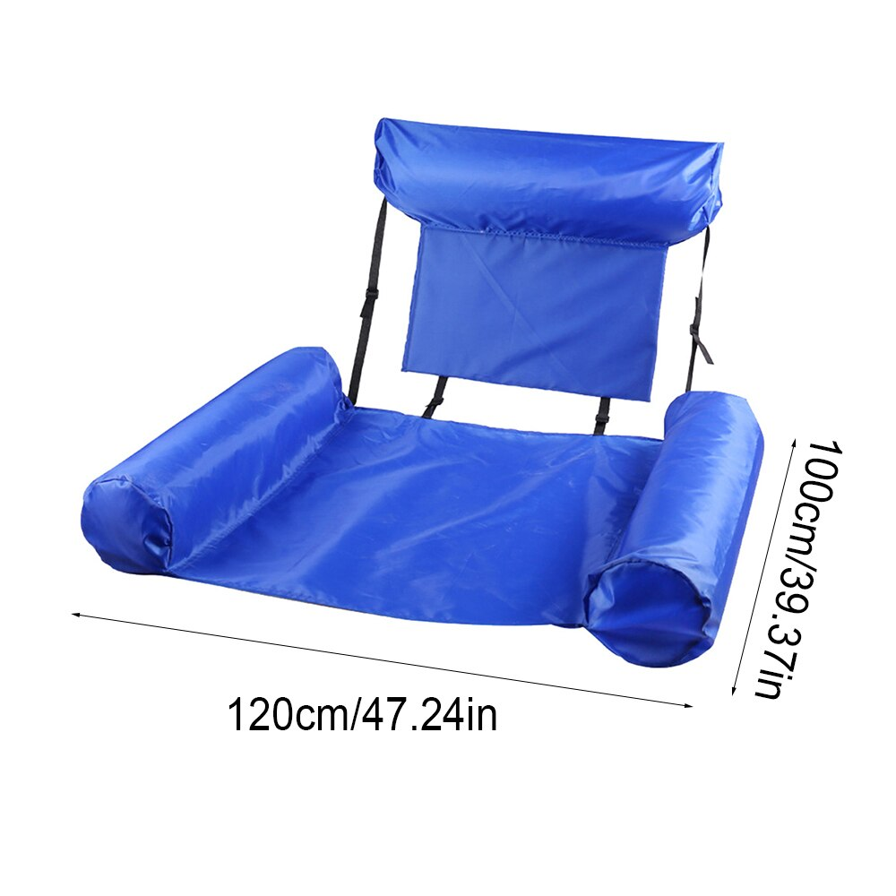Hc9e5e413b63a45ef95a2bdb1cea81729t - PVC Summer Inflatable Foldable Floating Row Swimming Pool Water Hammock Air Mattresses Bed Beach Water Sports Lounger Chair