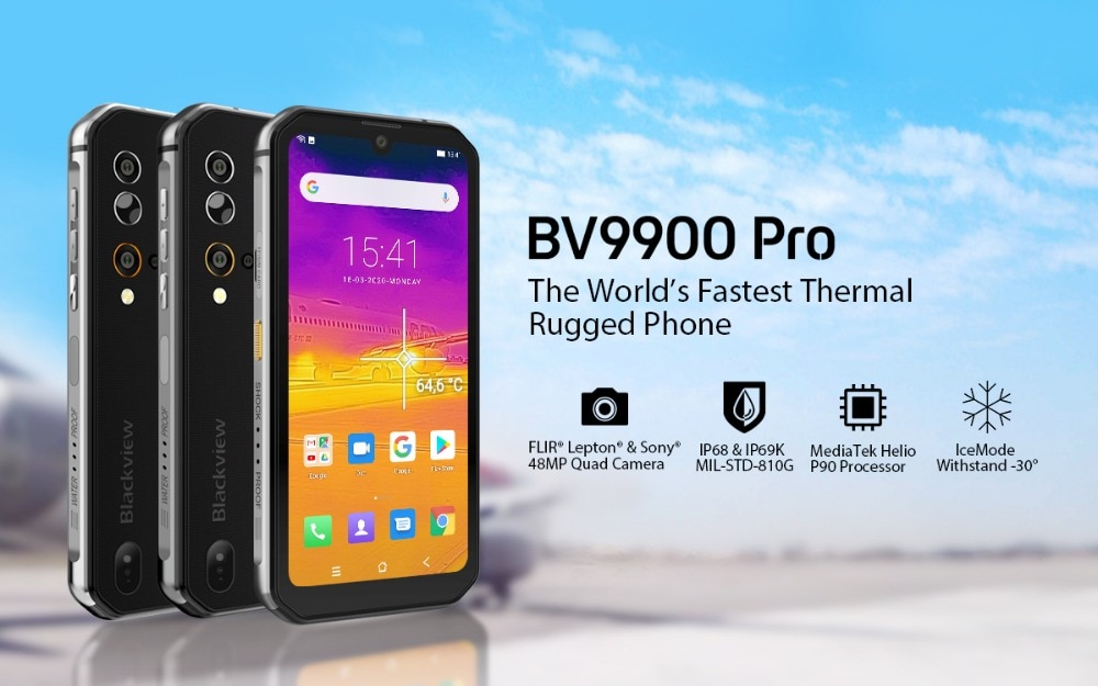Hcb7fe0969cad4bce8ff0575b597d724aN - Blackview BV9900 Pro Thermal Camera Mobile Phone Helio P90 Octa Core 8GB 128GB IP68 4G Rugged Smartphone 48MP Quad Rear Camera