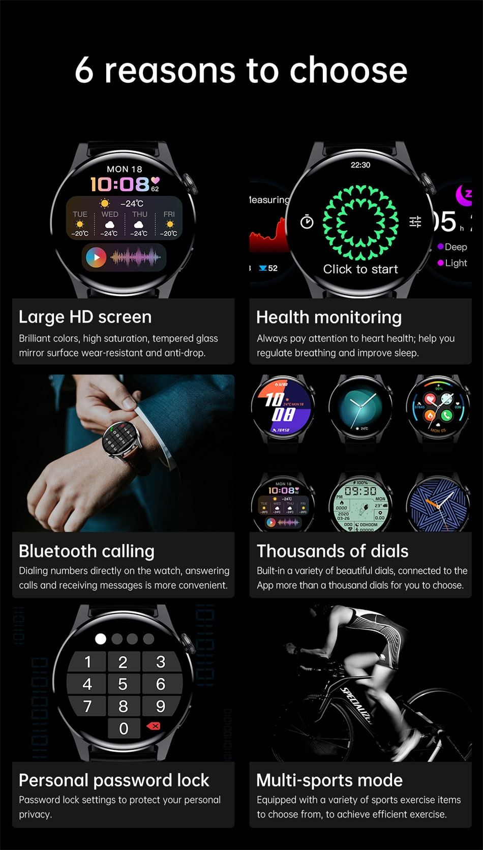 Hcc2ff00722474b579124dd08001d243dm - LIGE New Bluetooth Call Smart watch Men Full touch Screen Sports fitness watch Bluetooth is Suitable For Android ios Smart watch