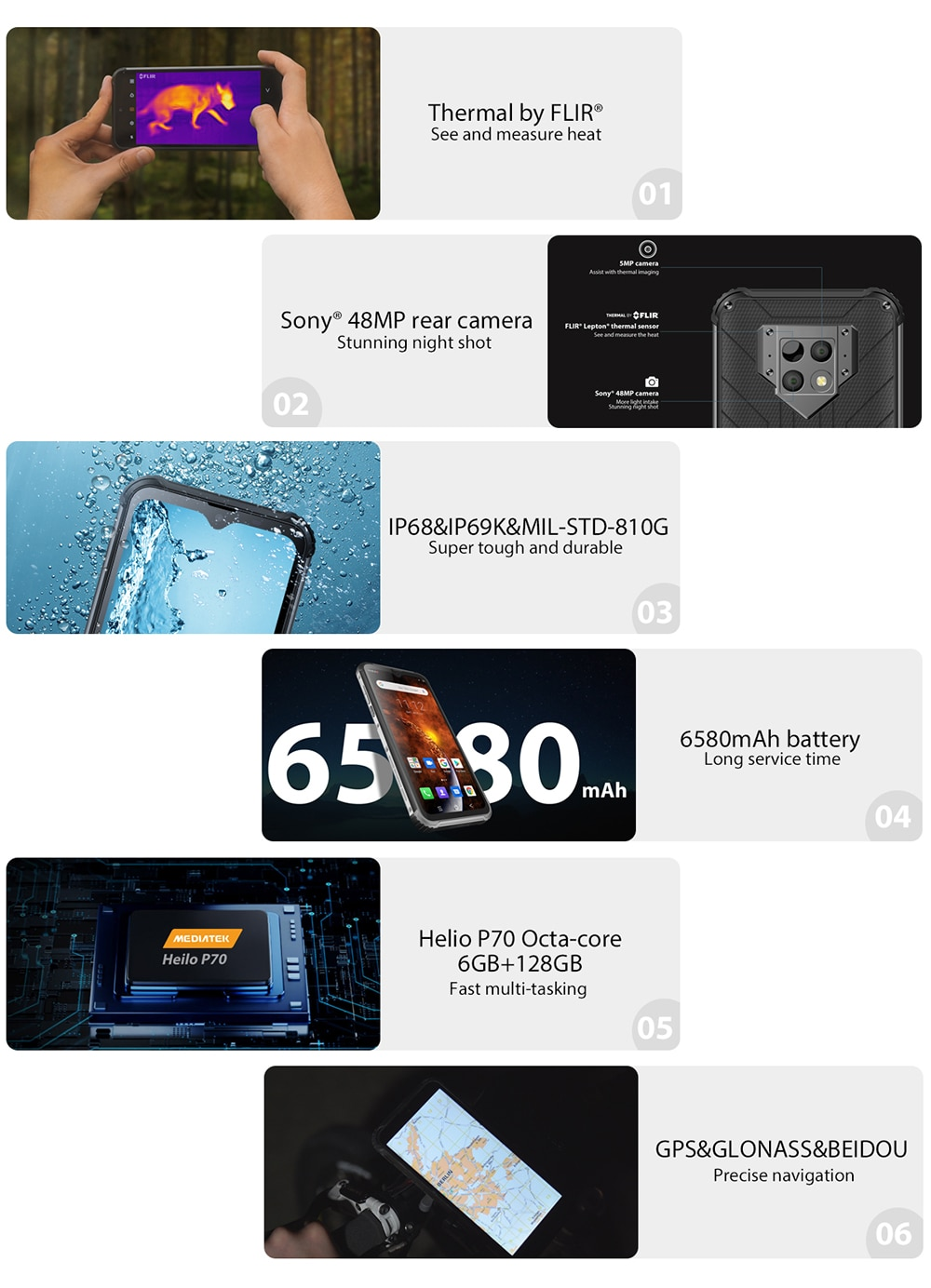Hcd77531a32ed4fed99a181c9dade3a8d8 - Blackview BV9800 Pro Thermal Camera Mobile Phone Helio P70 Android 9.0 6GB 128GB IP68 Waterproof 6580mAh Rugged Smartphone