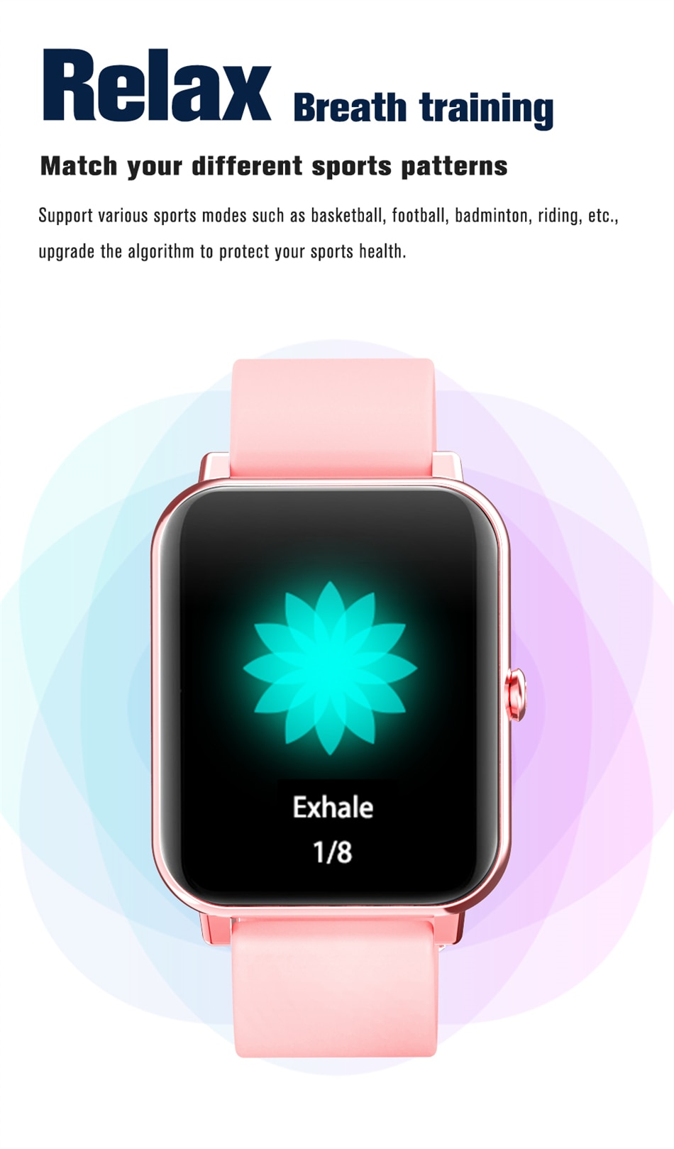 Hceb3440babf14eab8568bb0a7fe6b877i - LIGE New 1.69 Inch Full Touch Smart Watch Women Real-time Heart Rate Body Temperature Monitor IP67 Waterproof Smartwatch Ladies