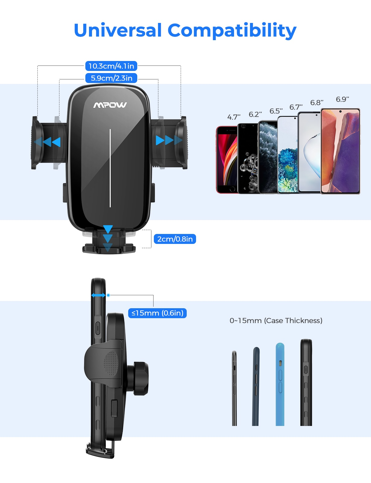 Hcf4328c866df4bf0a7b7ad4203580cccs - MPOW CA159 Upgraded Long Gooseneck Phone Holder for Car Windshield Car Phone Mount for iPhone SE 11 Pro Galaxy Note and More