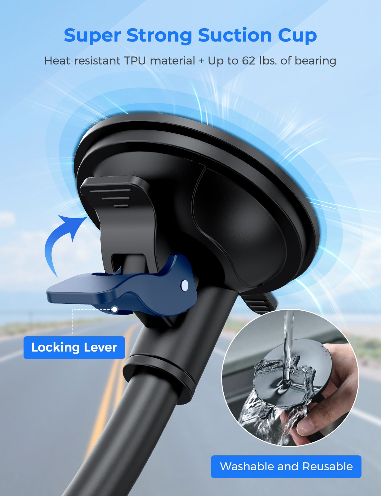 Hd01c57d751454e689afee53e33e5bd18d - MPOW CA159 Upgraded Long Gooseneck Phone Holder for Car Windshield Car Phone Mount for iPhone SE 11 Pro Galaxy Note and More