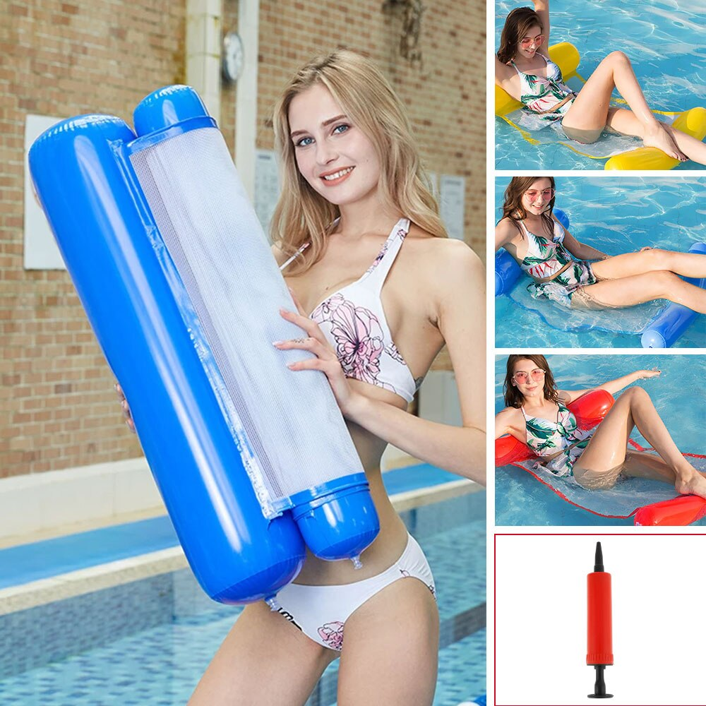 Hd181e047bb2347338ea089b6d3146da5X - 2021 New Water Hammock Recliner Inflatable Floating Swimming Mattress Sea Swimming Ring Pool Party Toy Lounge Bed for Swimming