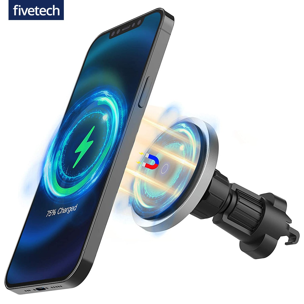 Hd1dcade310874df9bd38482ca32daac35 - Fivetech 15W Fast Car Wireless Charger For iPhone 12 Pro Max/12 Mini Strong Magnetic Car Charging Stand Car Phone Holder