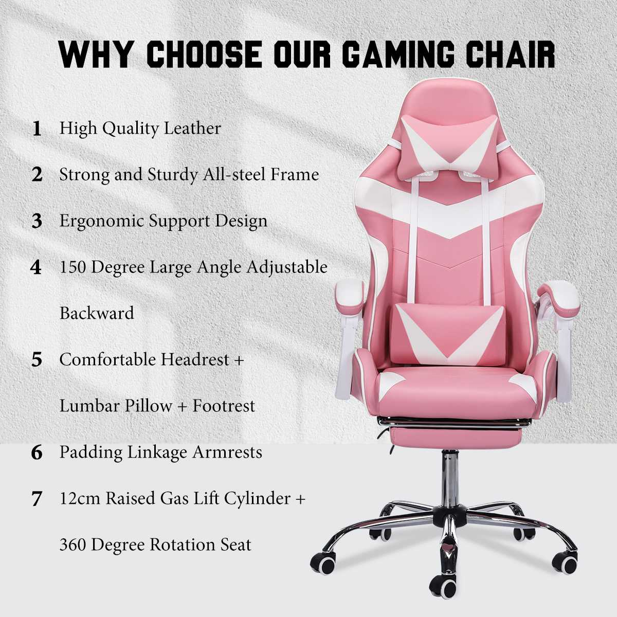 Hd38f62e3ab2c41e2a683e9ae248797c79 - Office Computer Chair WCG Gaming Chair Pink Silla Leather Desk Chair Internet Cafe Gamer Chair Household Armchair Office Chair