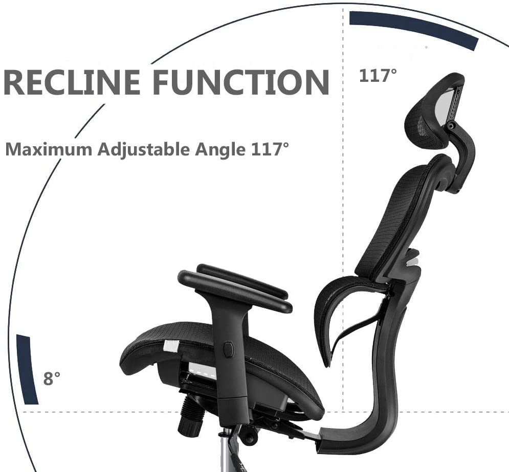 Hd3e645a331c1415d829fd3d80f2992dau - Office Chair Ergonomics Mesh Chair Computer Chair Desk Chair High Back Chair gaming chair With Adjustable Headrest and Armrests