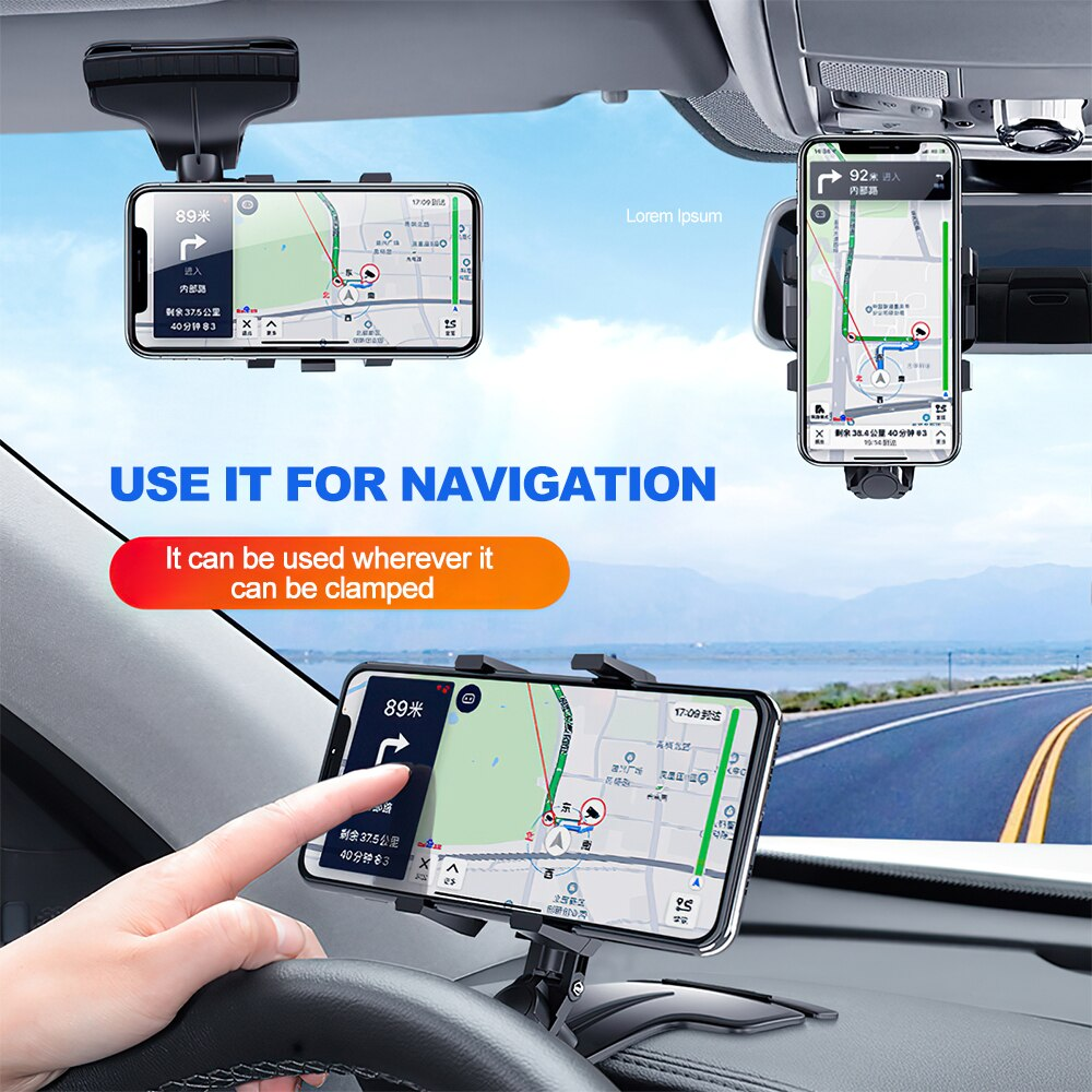 Hd51705e2c3d54e2f827932a052ecad6a3 - TRAVOR Phone Holder Adjustable Stand Car Phone Holder Clip Waterproof Bracket Bicycle Handlebar Mobile Support Mount Phone Stand