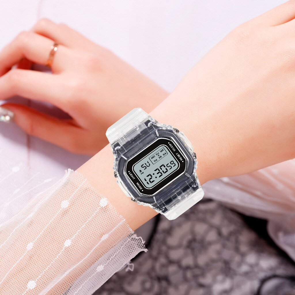 Hd583ea504aac48eeafa713da0788c954K - New Fashion Transparent Electronic Watch LED Ladies Watch Sports Waterproof Electronic Watch Candy Multicolor Student Gift