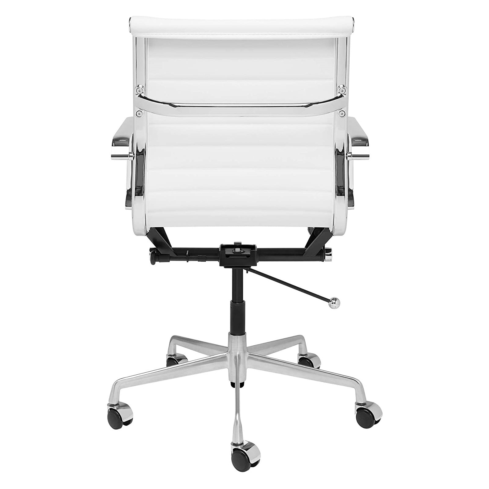 Hd74541d9fb294b43840820cc1f979c4eY - Furgle Executive Office Chair Mid Back PU Leather with Arms Rest Tilt Gaming Chair Adjustable Height with Wheels Swivel Chairs