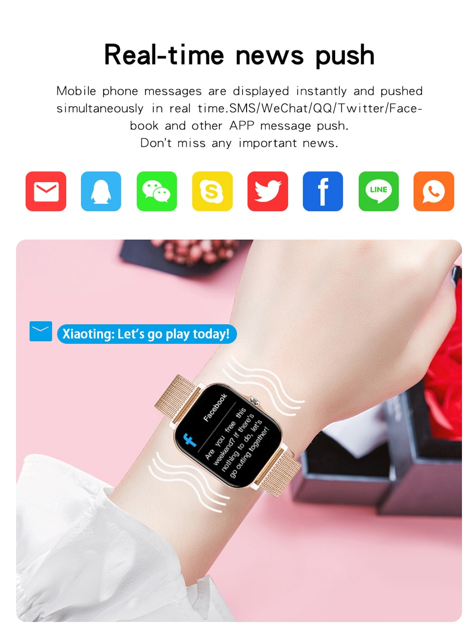 Hd8179d90152d4c03bb0e7cf7295fe8f3l - LIGE 2021 New Women Smart Watch 1.69 Color Screen Full Touch Fitness Tracker Bluetooth Call Smart Clock Ladies Smartwatch Men