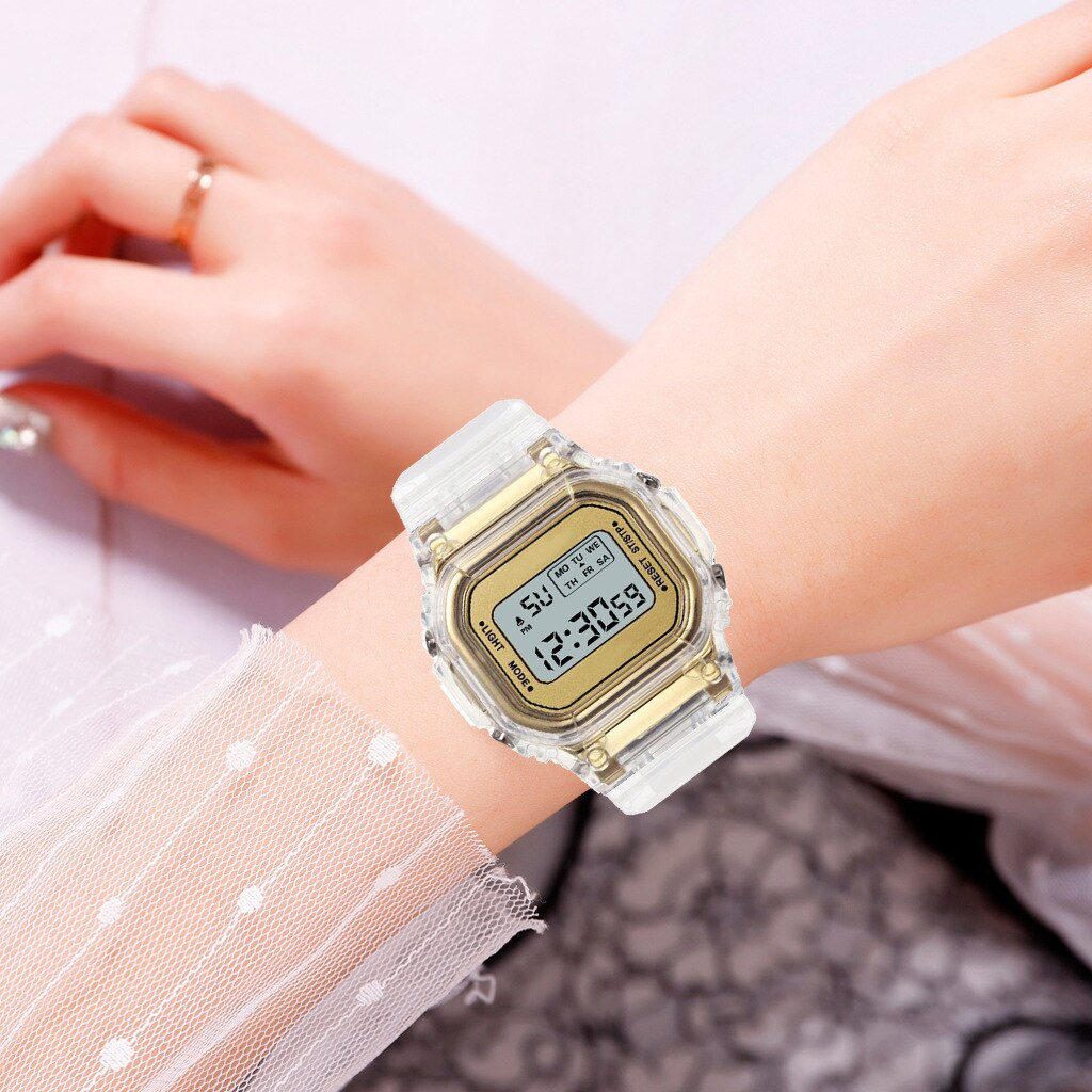 Hd8187388a92d4236a15c1e167c2c7b26O - New Fashion Transparent Electronic Watch LED Ladies Watch Sports Waterproof Electronic Watch Candy Multicolor Student Gift