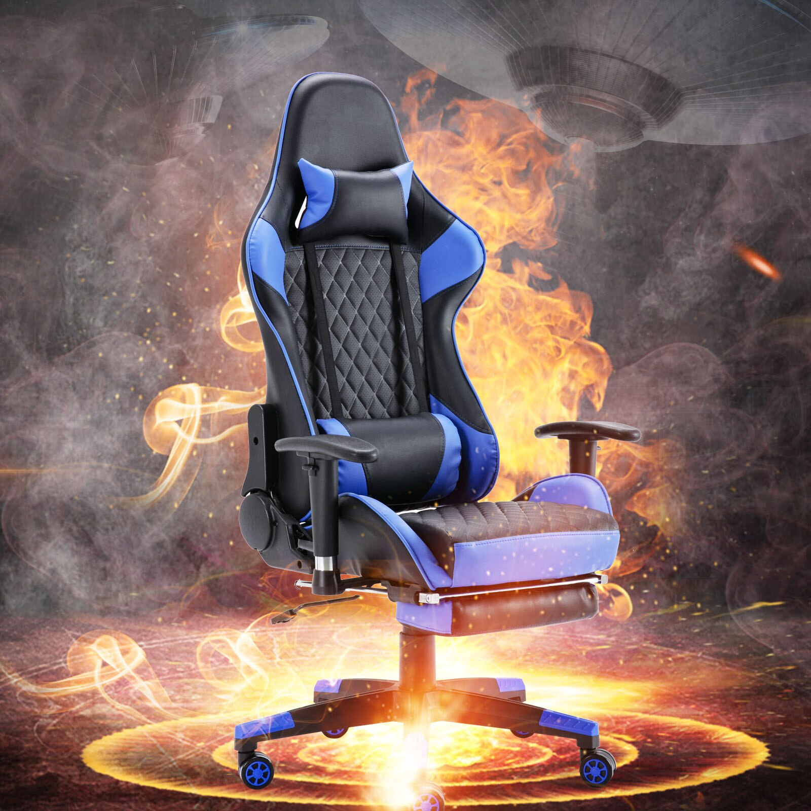 Hd8844659652c421a8b0f0da1b5292f640 - Gaming Chair Computer Armchair Adjustable Armrest And Footrest PVC Household Office Chair Ergonomic Computer Gamer Chair