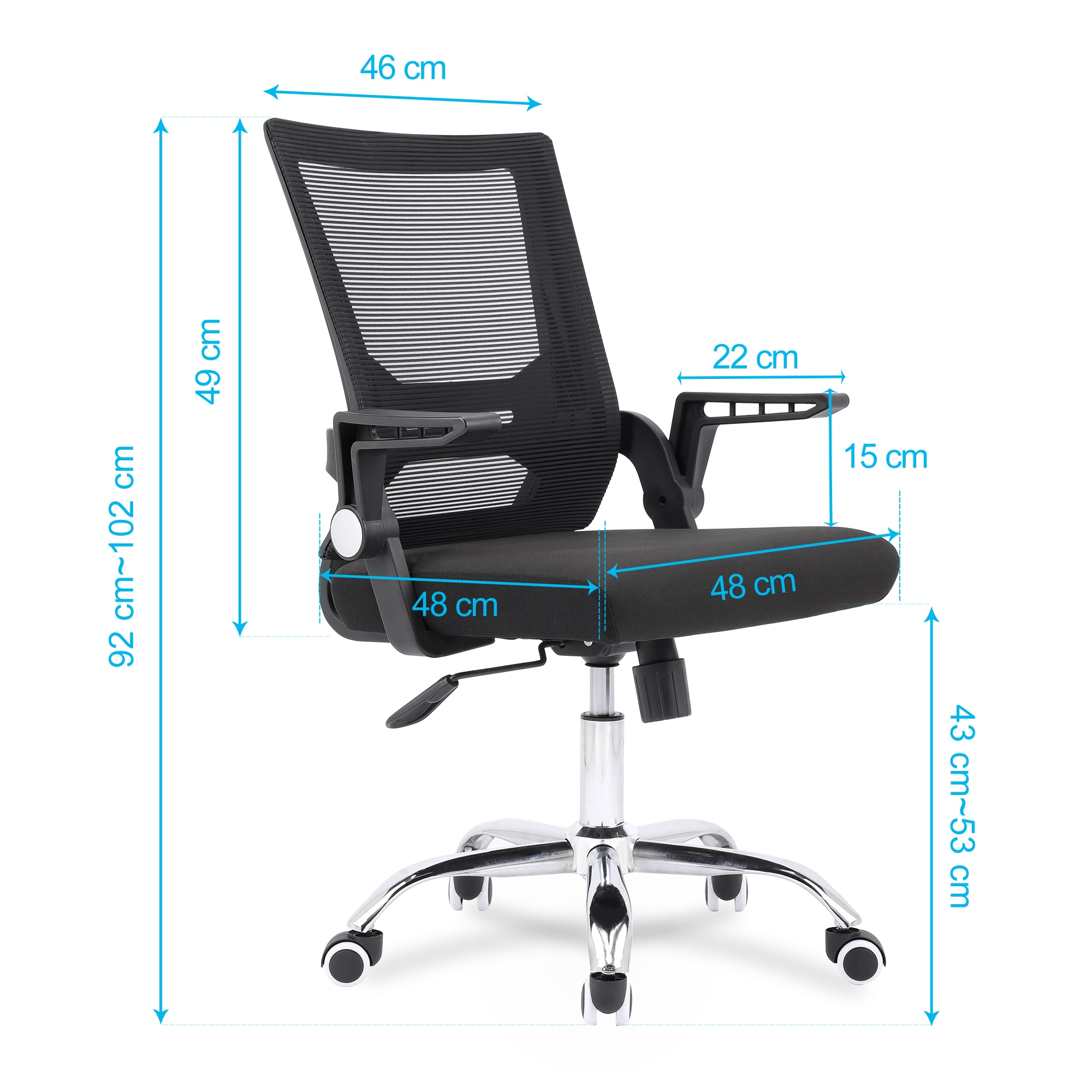 Hda548fde548e4ffba7d7d170f104588fT - Sigtua Swiveling Desk Chair Breathable Height-adjustable PC Chair Ergonomic Executive Black Computer Office Chair