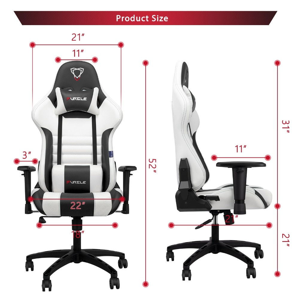Hda95845d19c141229c9f4b6511cb51bab - Furgle Gaming Office Chairs 180 Degree Reclining Computer Chair Comfortable Executive Computer Seating Racer Recliner PU Leather