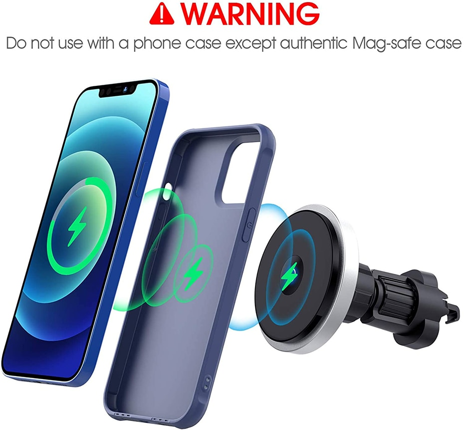 Hdaf6ea104ce640ad8773961c497e2f7eG - Bonola Qi 15W Wireless Car Charger For iPhone 12/11/8 Plus/Samsung/Xiaomi Car Smart Phone Charging Holder 15W Charger on Car