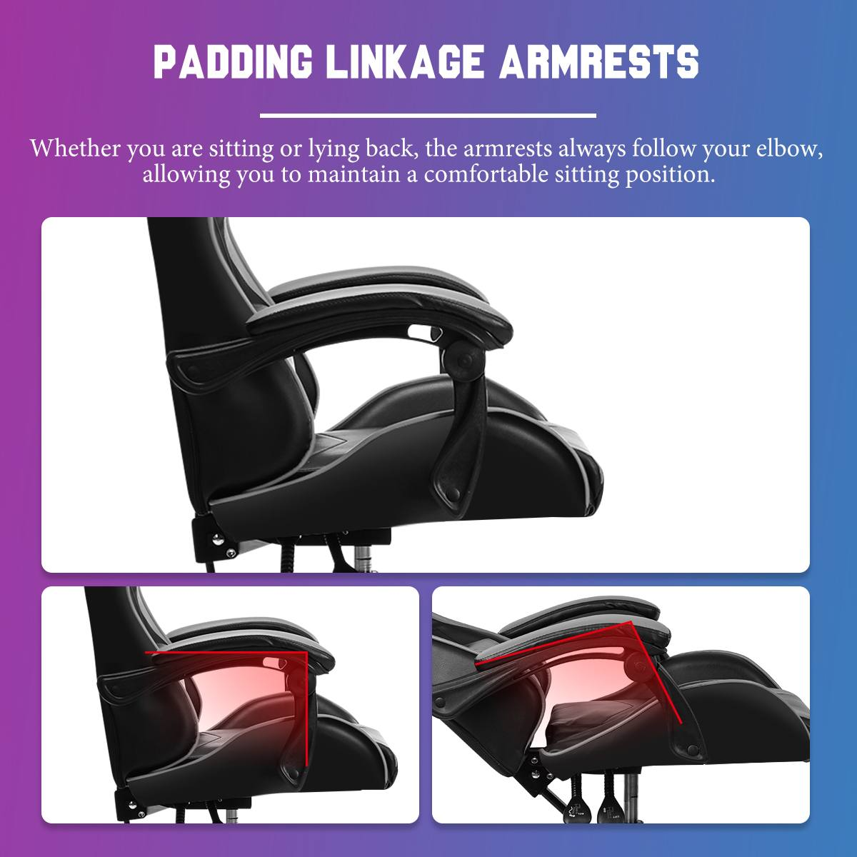 Hdb4f3793fb5f49eeb371b011eac1cc0eE - Adjustable Office Chair Gaming Ergonomic Leather Racing Desk Chairs Gaming Computer Chaise Game Chairs Reclining Seating