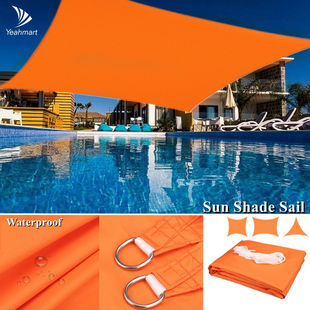 Hdc00a3a82da74211a43ee970af5aca08I - Waterproof Oxford Rectangle Triangle Shade Sail Garden Canopy Swimming Sun Shelter Outdoor Camping Yard Sail Awnings 2M/3M/4M/5M