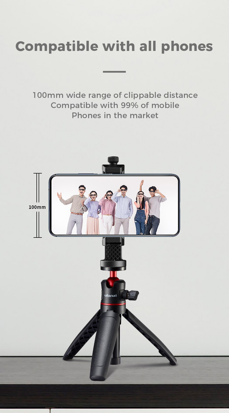 Hdc0906ccb5d94e13b86a1ab44468e099i - Ulanzi ST-17 Universal Smartphone Clip Mount Holder Cold Shoe Vlog Tripod Mount Vertical Shooting for Huawei iPhone Android