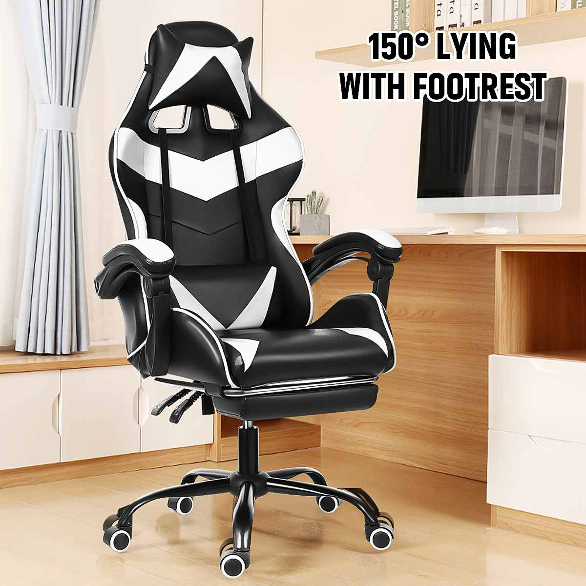 Hdd011992906e41faa15fefd182452f1a3 - Office Chair WCG Computer Gaming Chair Reclining Armchair with Footrest Internet Cafe Gamer Chair Office Furniture Pink Chair