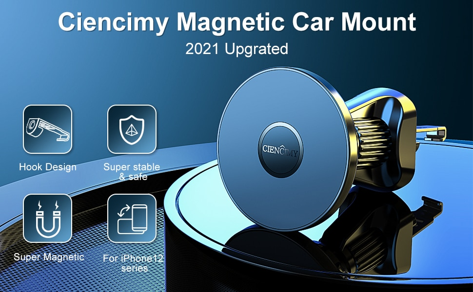 Hdfbcfc5ca4a1429b9c24fcbaf2ae3598L - EWA Magnetic Car Holde Mount Compatible with iPhone 12/ Pro/12 Pro Max/12 Mini/Magsafe Case Strong Magnet Air Vent Phone Holder