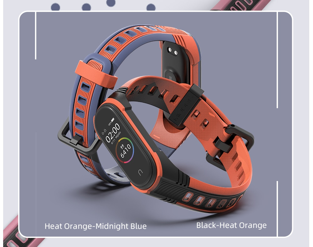 He0799c5f475d4c49a1d87c454eaa39686 - For Xiaomi Mi Band 6 5 Strap Bracelet for Mi Band 4 Strap Silicone Correa Wrist Watch Wristband for Mi Band 3 NFC Global Version