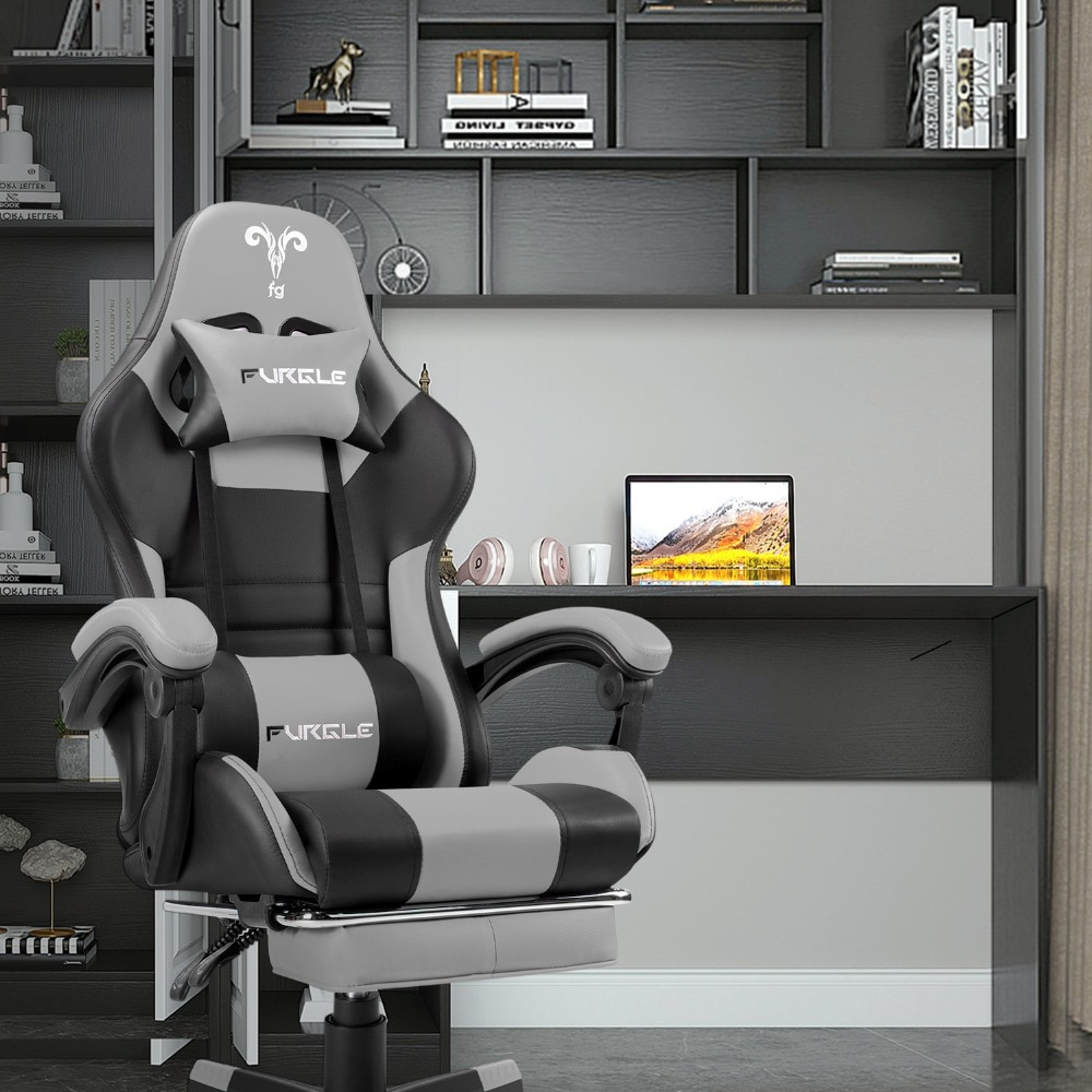 He098a83794b049a38f2c31d4107410989 - Furgle PC Gaming Chair Ergonomic Office Chair Desk Chair with Lumbar Support Flip Up Arms Headrest High Back Computer Chair