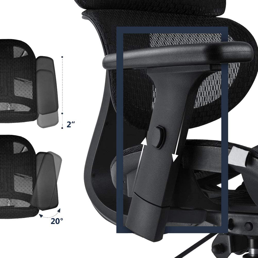 He0eb1104804d4a1ebc73b509bc748d431 - Office Chair Ergonomics Mesh Chair Computer Chair Desk Chair High Back Chair gaming chair With Adjustable Headrest and Armrests