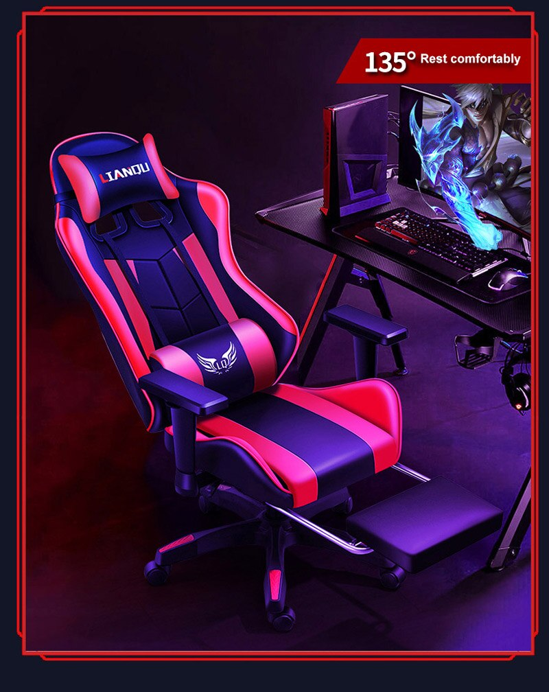 He1e9302fa10f4432a296b6ed54297cab3 - Computer Gaming Chair Safe And Durable Office Chair Ergonomic Leather Boss Chair Wcg Game Rotating Lift Chair High Back Chair
