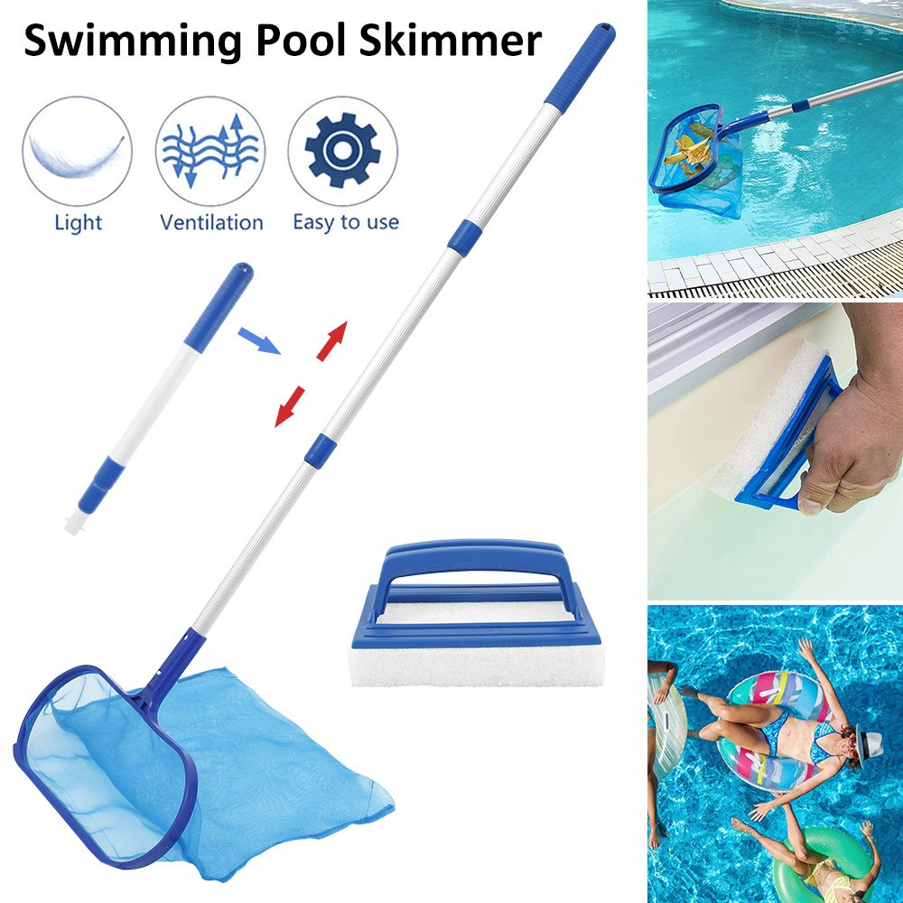 He2486a349a51464a9a82cebb0f475306p - Swimming Pool Net Tool Shallow/Deep Water Fishing Net Pool Cleaning Net Equipment Home Outdoor Fishing Pool Cleaner Accessories